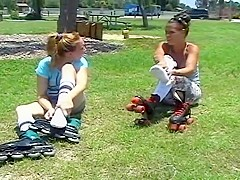 Skaters Sprain Feet in Sweaty White Tube Socks
