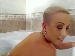 Hot blonde blowjob POV and fuck