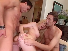 Samantha Sin needs two stud cocks for her cock-loving holes