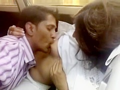 Indian Beautiful cute Awesome baby breast feed n give blowjob to bf in car