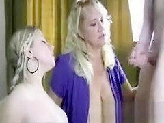 Mommy gets her daughters boyfriends jizz in her mouth