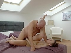 DADDY4K. Omelia had unexpected sex with dad of her