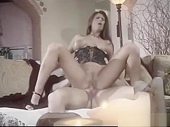 loaded brunette takes on thick cock