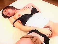 Horny Asian girl feels herself out!