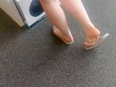 Candid Flip Flops Feet Slapping Teen