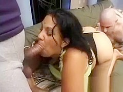chubby indian babe gets her sweet ass licked