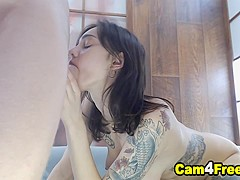 Pretty Wild Teen With Tattoo Suck And Gets Fucked