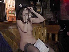 Jeny Smith naked girl in a club and on stage