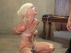 Huge Cock Master Bangs Tied Up Blonde