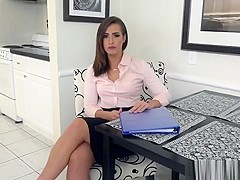 Brunette Realtor Kelsi Gives Head And Gets Banged