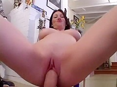 milf with large natural breasts does pov #3