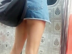 Sexy Ass Legs on Train Candid Superhot
