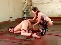 Lezdom Master Penetrating Slave With Strapon
