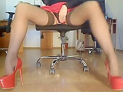 Perfect legs office web cam
