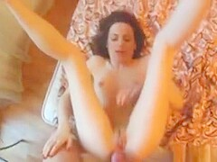 Horny Brunette With Tiny Tits Gets Her Shaved Pussy Pounded In A Homemade Sex Video