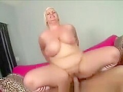 Big Boobed Blonde Bbw Mounts A Huge Bone On Her Couch
