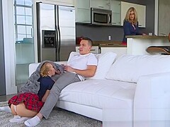 Teen Bailey Brooke Blows Bf While Stepmoms Around