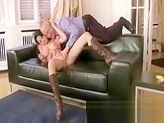 Sexy cowgirl sucking dick after getting fingered