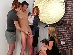 Cfnm Babes Tugging Dick