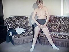 THE JACK - pale British college girl strip dance tease vintage