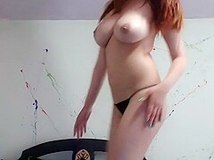 Redhead Angel In Sexy Panties Part 01