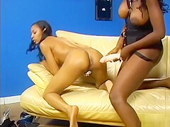 Alluring Ebony Girls Bring Each Other's Slits To Climax With Sex Toys