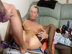 Old Milf Gets Her Pussy And Ass Fisted Together