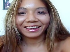 Winsome asian Keeani Lei play her self