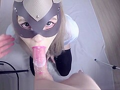 I love yogurt and facials - cum eating with a spoon