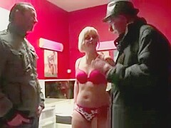 Tourist visits blonde prostitute