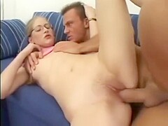 Blonde Nerdy Teen with Glasses and Pigtails gets fucked by a Stud