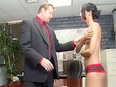 Horny principal is interviewing new adorable student