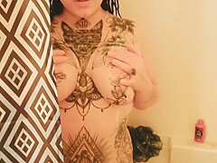 POV - Virgin Step Brother Walks In On Step Sister Showering And Fucks Her