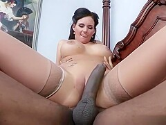 Brunette Phoenix Marie is pounded by BBC!!!