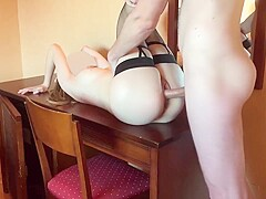 I cover my slut girlfriend in cum after she rides me
