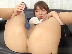 Yui Hatano hot milf enjoys solo masturbation in the office