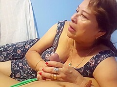 Amateur spanish GILF with younger guy