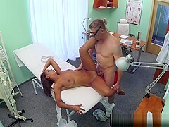 Pierced patient fingerfucked by doctor