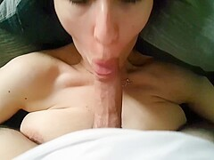 Morning Blowjob and Cum in Mouth POV