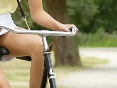 Bicycle upskirt Bicycle Porn
