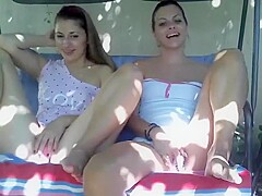 Latinas in Jeans Having Outdoor Softcore Fun Part 04