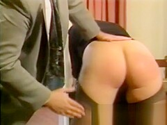 Bad Boss Punishes His Blonde Secretary Spanking And Caning Her Soft Round Ass Cheeks