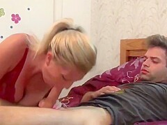 sexy busty cougar milf loves hot sex with new roommate boy
