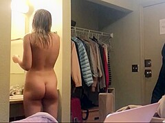 my sister naked in our hotel room