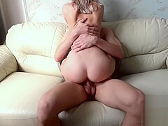 I FUCKED MY SLUTTY STEP-SISTER in doggie on the sofa. POV. BJ - AMATEURS