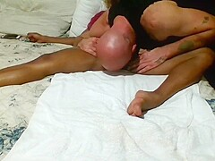 foot and leg massage ends with cumshot