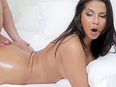 EVIL LATINA MOM locks her and FUCKS son