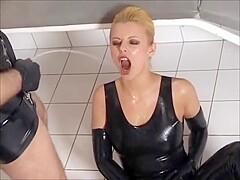 Latex piss porn