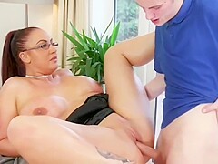 mom force son titsfuck her tits porn