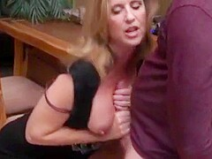 Step mom love titty fuck and let me cum